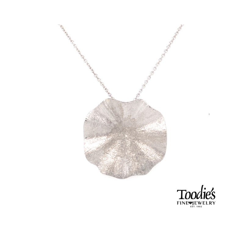 Toodie's Signature Fashion Textured Lily Pad Necklace