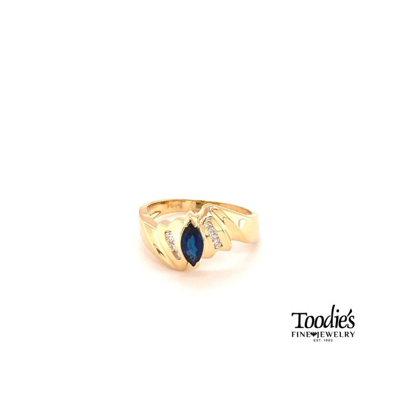 Toodie's Signature Fashion Sapphire And Channel Set Diamond Fashion Ring