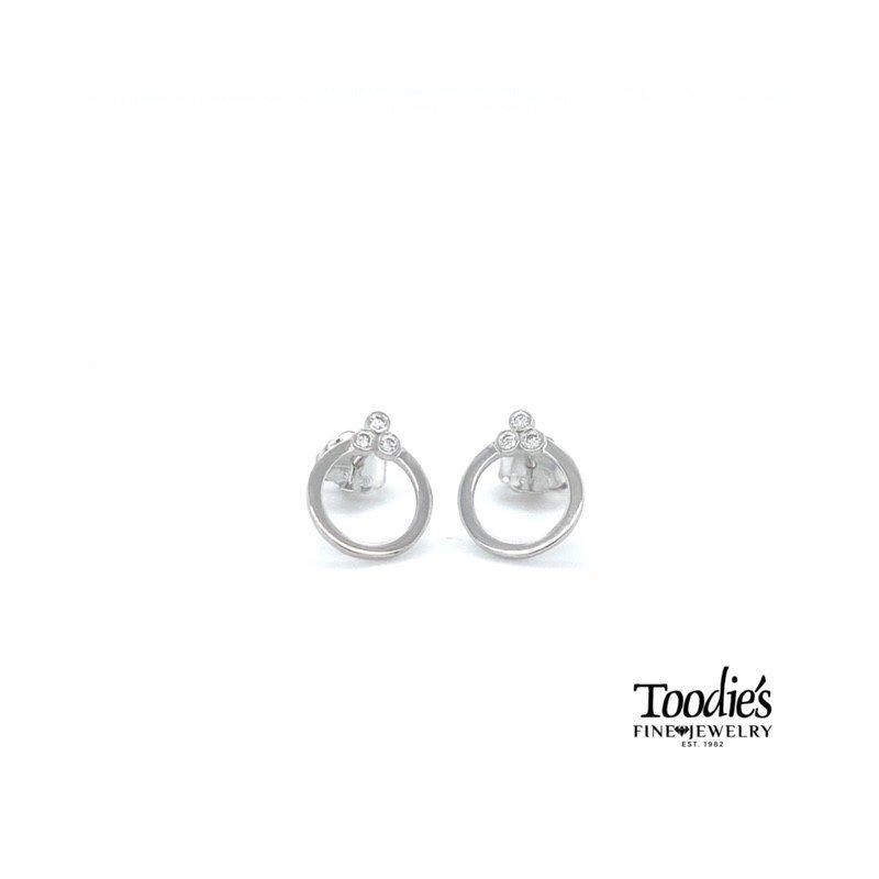Toodie's Signature Fashion Dainty Circle Diamond Studded Earrings