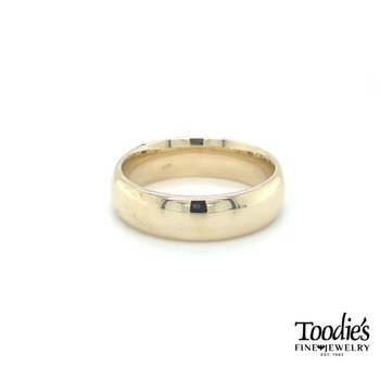 6mm Low Dome Comfort Fit Wedding Band