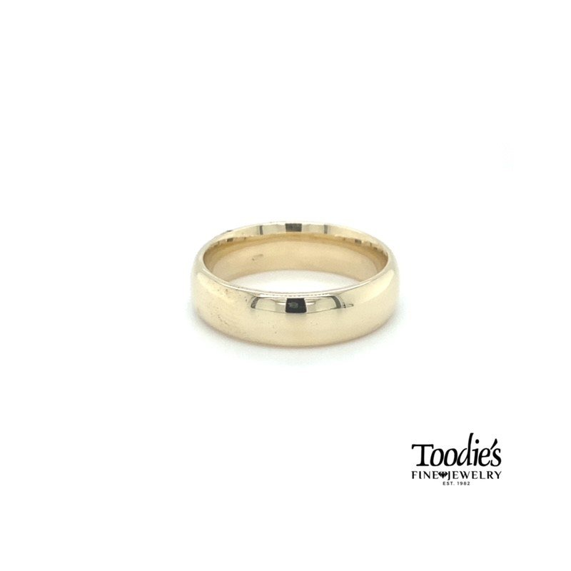 Toodie's Signature Fashion 6mm Low Dome Comfort Fit Wedding Band