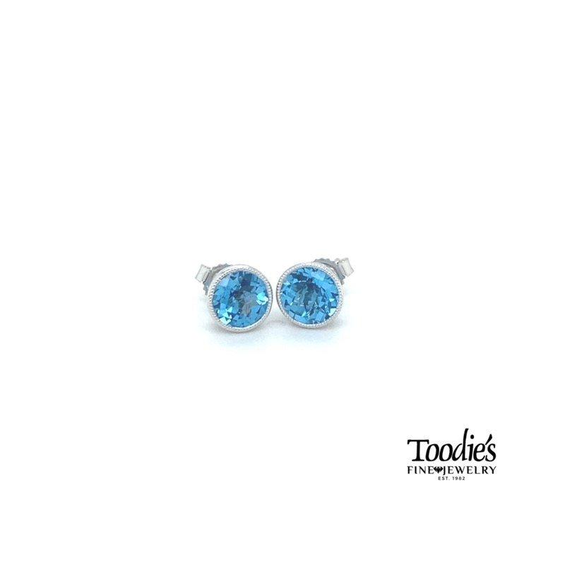 Toodie's Signature Fashion Blue Topaz Stud Earrings