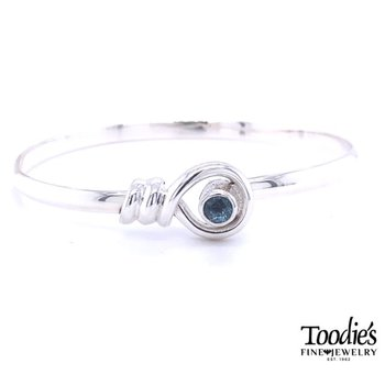 Twisted Bangle with Blue Topaz
