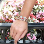 Gabriel Fashion Turquoise and Rock Crystal Bracelet