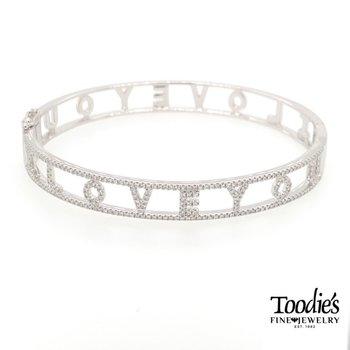 I Love You Diamond Bracelet