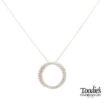 Beaded Diamond Circle Necklace