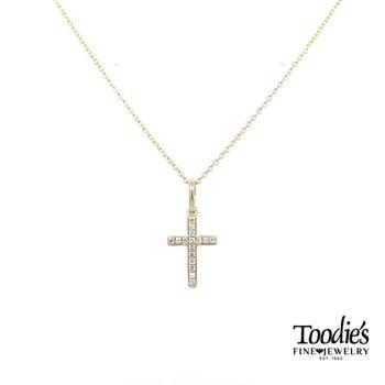 Mini Diamond Cross Necklace