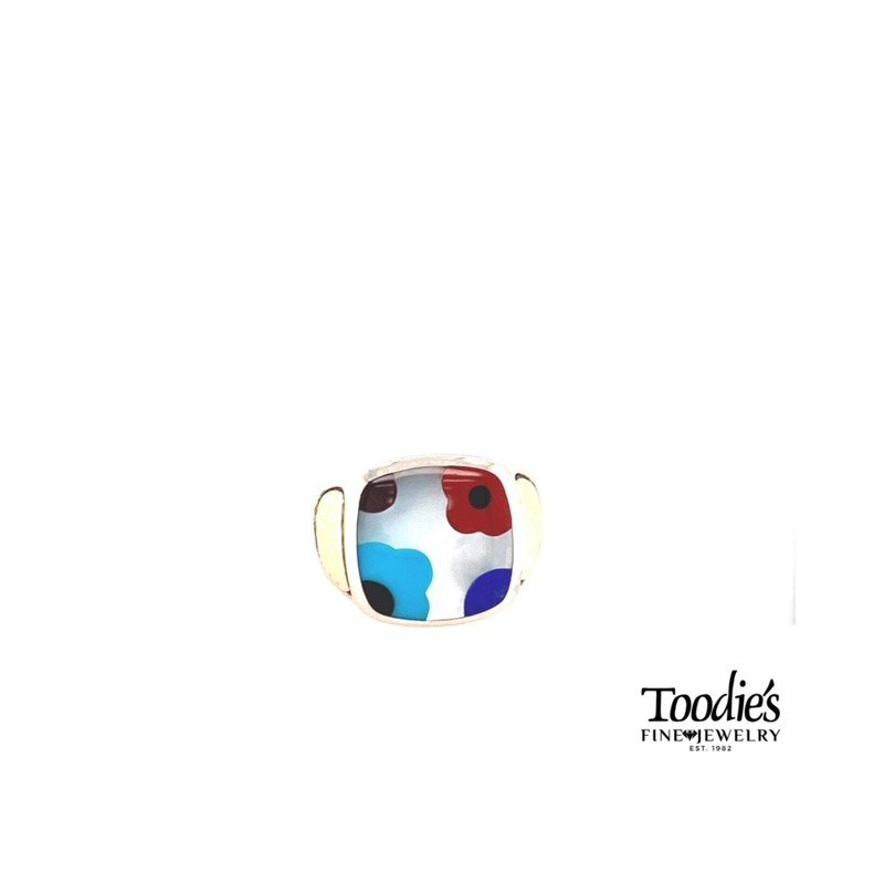Asch Grossbardt Designs Multi Color Mother Of Pearl Inlaid Ring