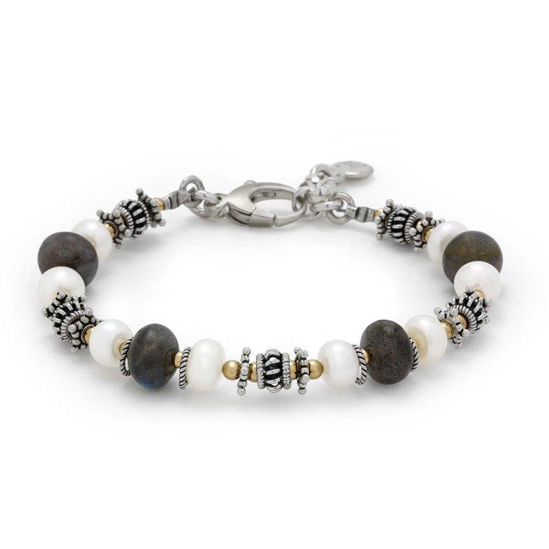 Elisa Ilana Pearl And Labradorite Bracelet