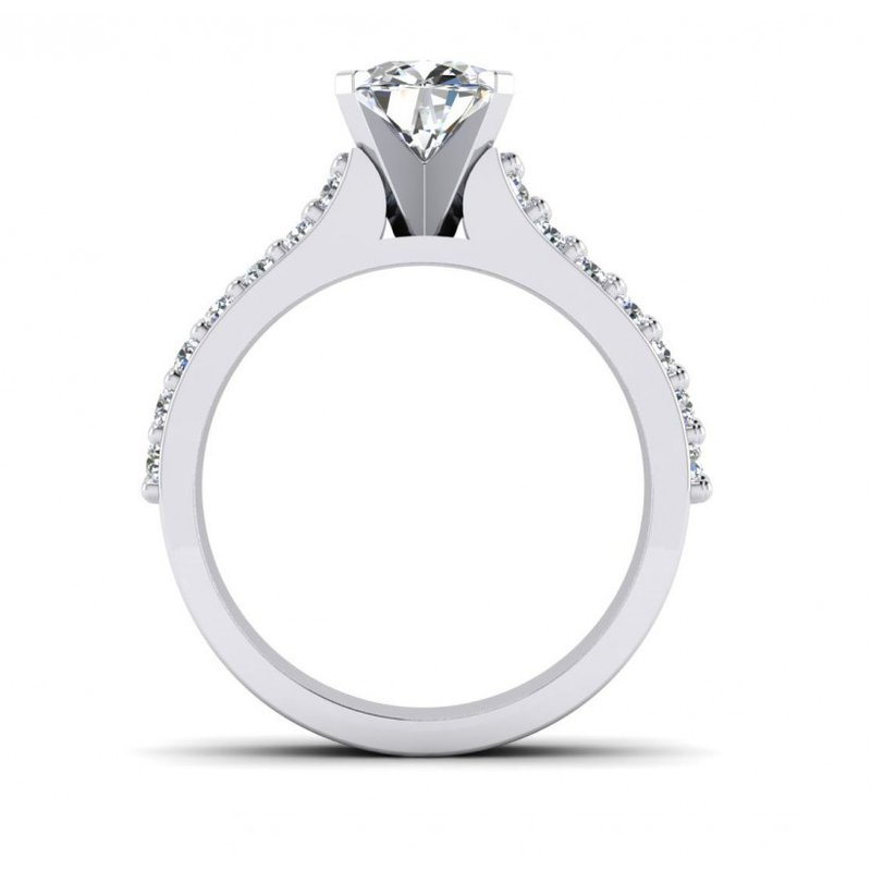 Toodie's Bridal Double Row Diamond Engagement Ring