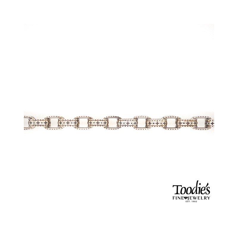 Phillip Gavriel Silver Textured Link Bracelet