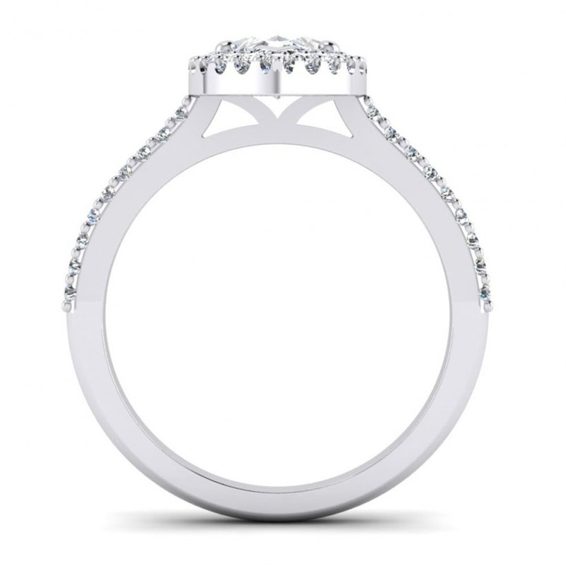 Toodie's Bridal Marquise Shaped Diamond Halo Engagement Ring
