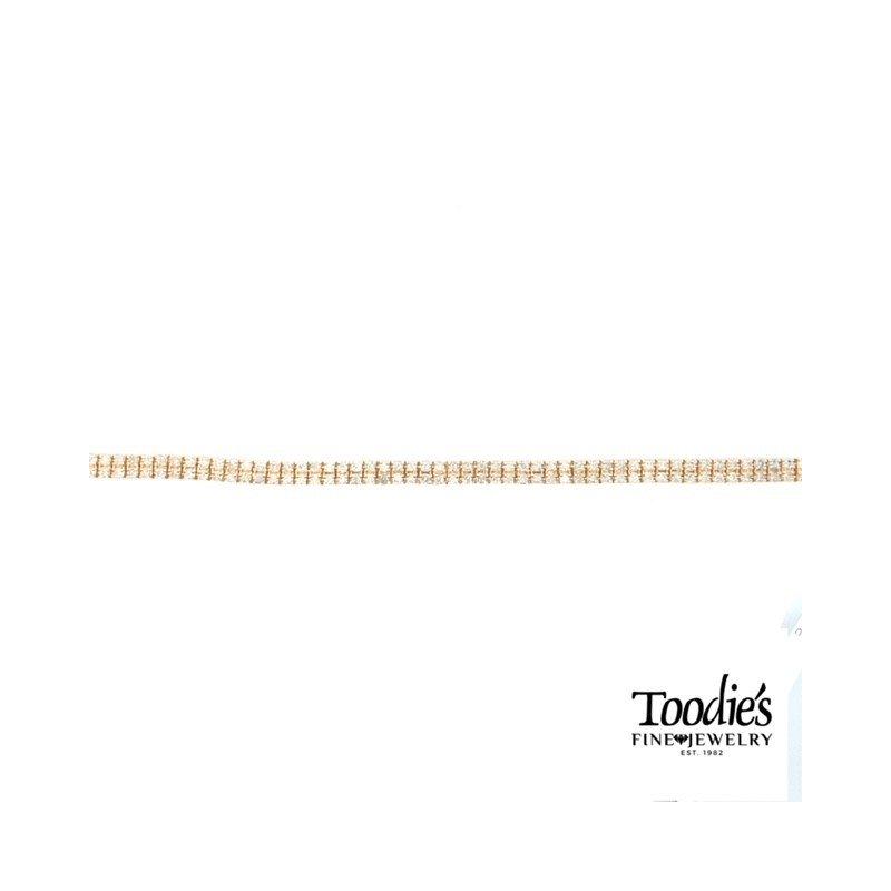 Toodie's Signature Fashion Yellow Gold Double Row Diamond Tennis Bracelet