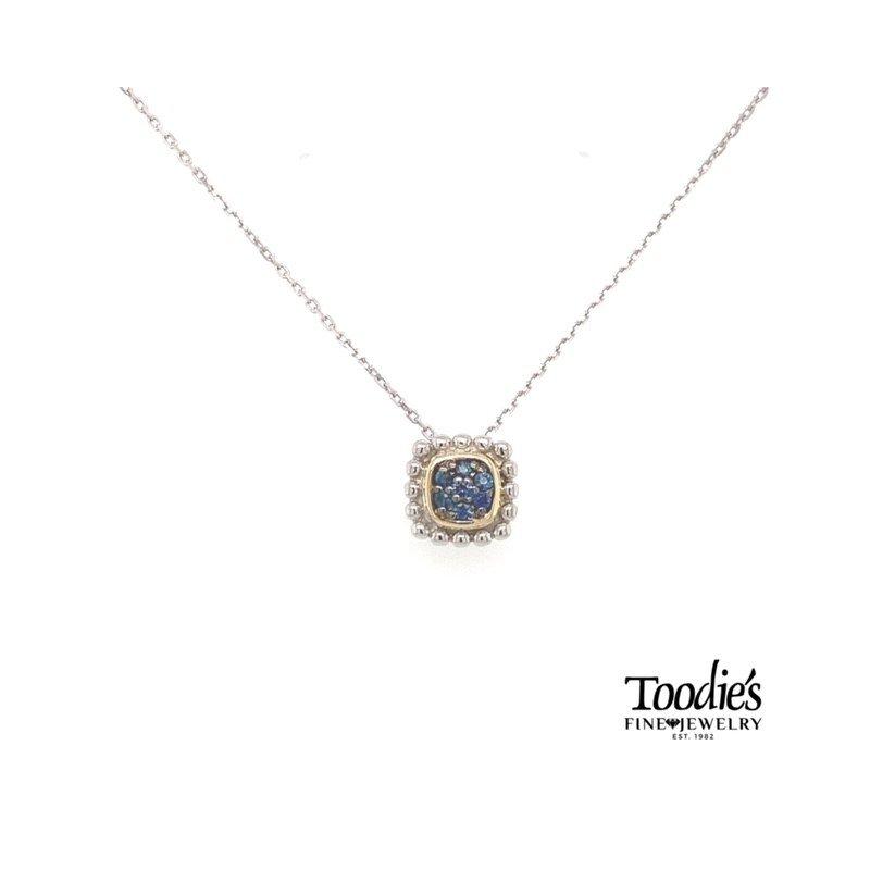 Phillip Gavriel Blue Sapphire Pendant Necklace