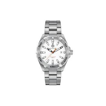 "Aquaracer Quartz Watch with 'Polar White"" Dial"