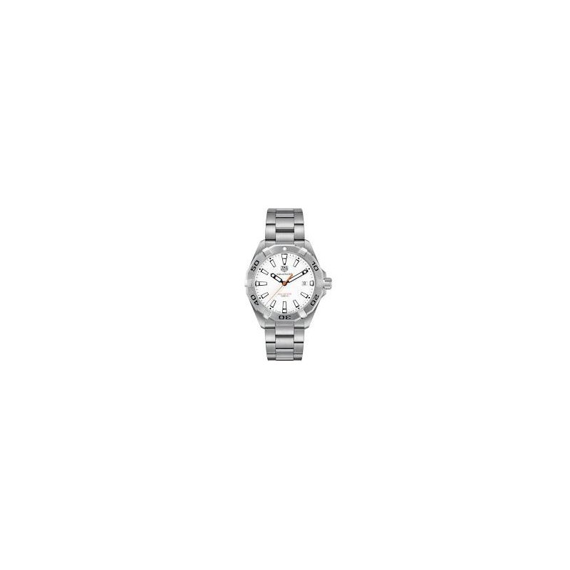 "TAG Heuer Aquaracer Quartz Watch with 'Polar White"" Dial"