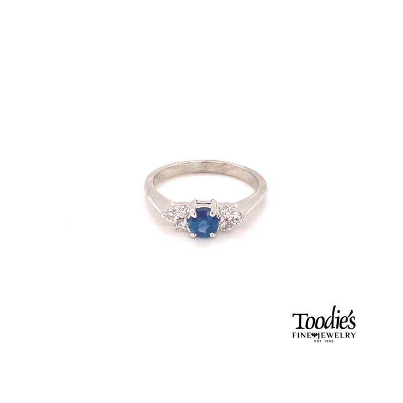 Toodie's Signature Fashion Sapphire And Diamond Ring