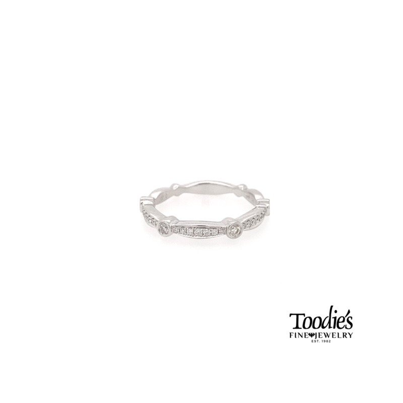 Toodie's Signature Fashion Elongated Diamond Stackable Band