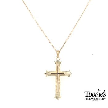 Gold 3-D Cross and Chain