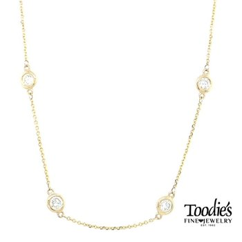 1 3/4 Carat Diamond by the Yard Necklace