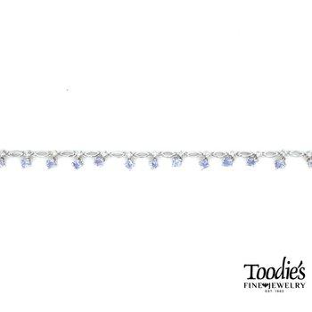 Tanzanite and Diamond Link Bracelet