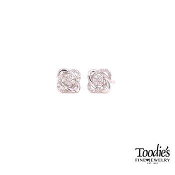 Love Knot Studded Earrings