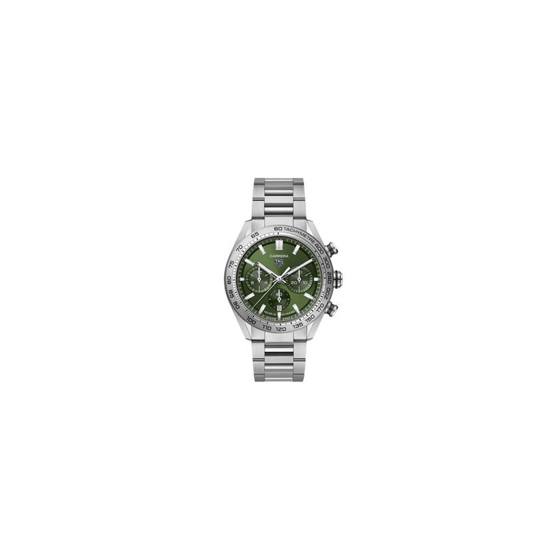 TAG Heuer Carrera Automatic Chronograph Watch with Green Dial