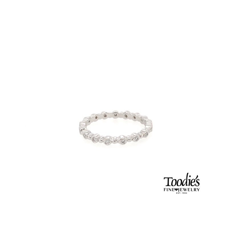 Toodie's Signature Fashion Hidalgo 18k White Gold Diamond Stackable Style Band