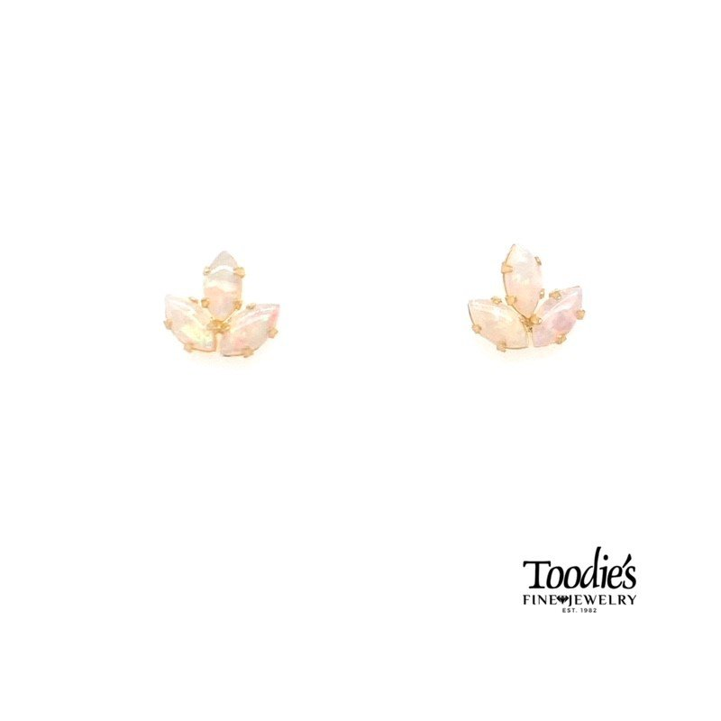 Toodie's Signature Fashion Opal Cluster Studded Earrings