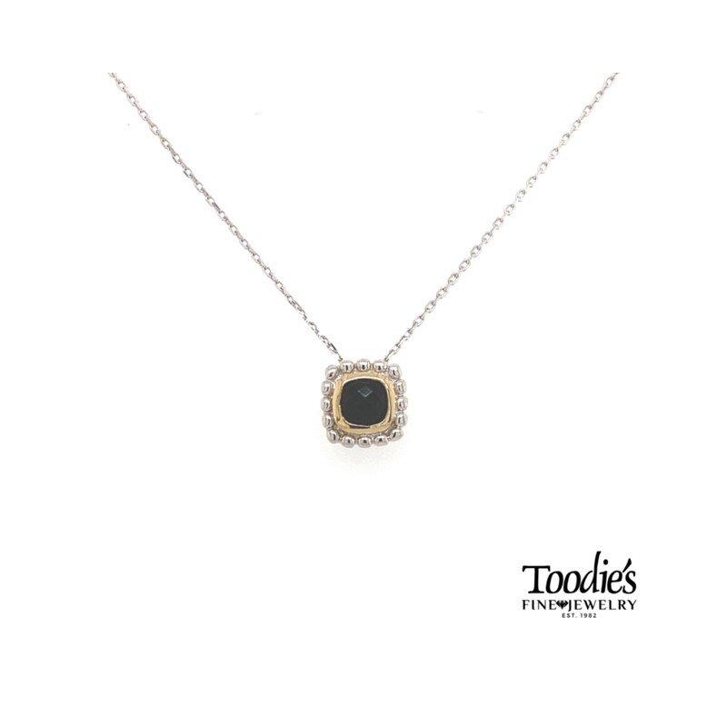 Phillip Gavriel Black Onyx Pendant Necklace