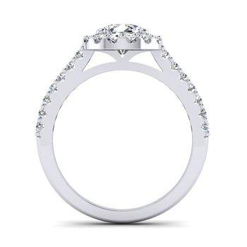 Round Diamond Halo Design Engagement Ring