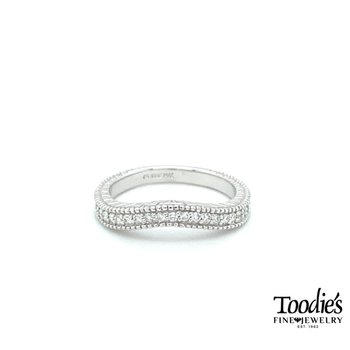 Vintage Inspired Curved Diamond Band