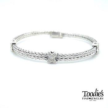 "White Sapphire ""X"" Bracelet"