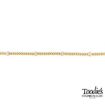 Woven Design Diamond Bracelet