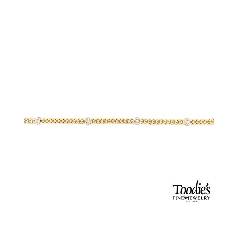Toodie's Signature Fashion Woven Design Diamond Bracelet