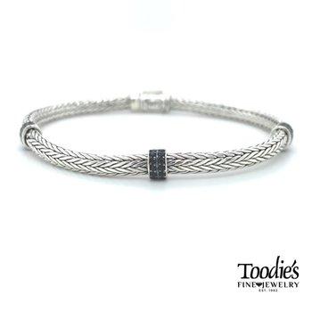 Triple Station Black Spinel Bracelet