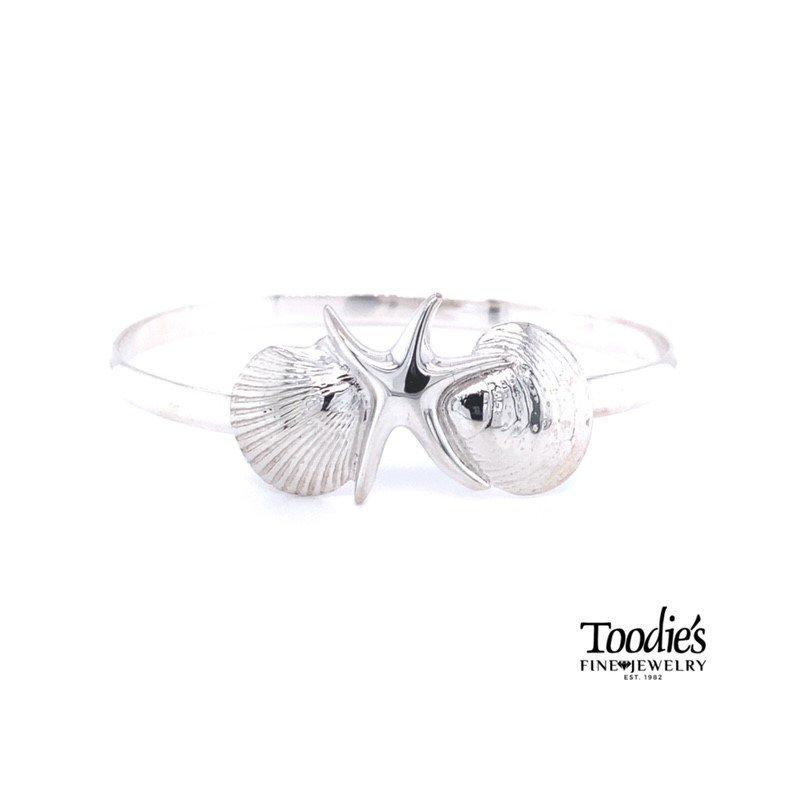 Toodie's Signature Fashion Shell and Starfish Bangle Bracelet