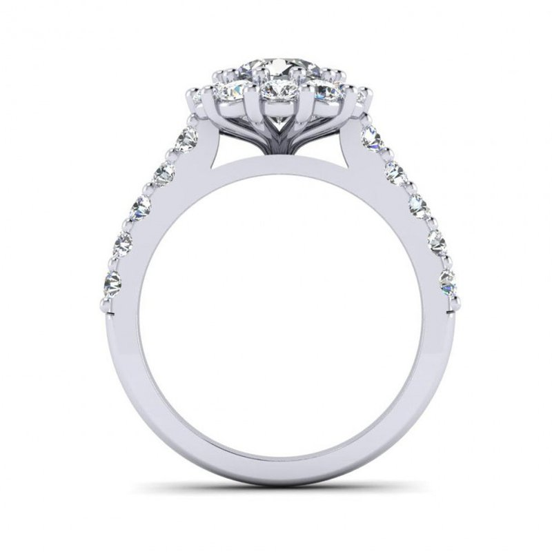 Toodie's Bridal Flowery Diamond Halo Engagement Ring