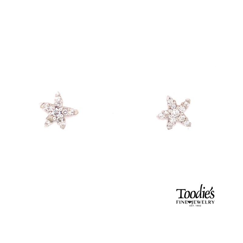 Diamond Starfish Collection Starfish Earrings