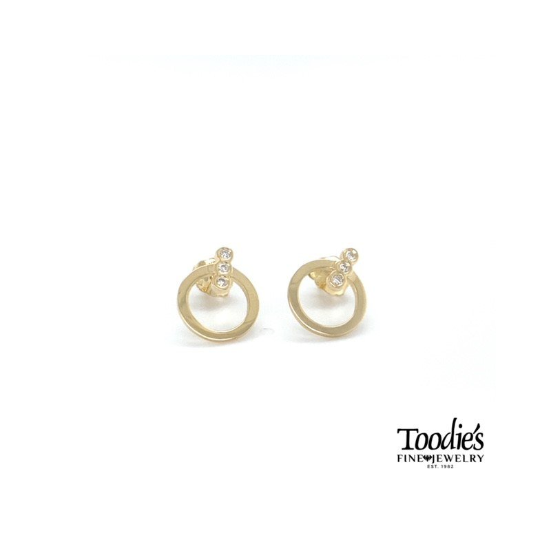 Toodie's Signature Fashion Dainty Circle Studded Earrings