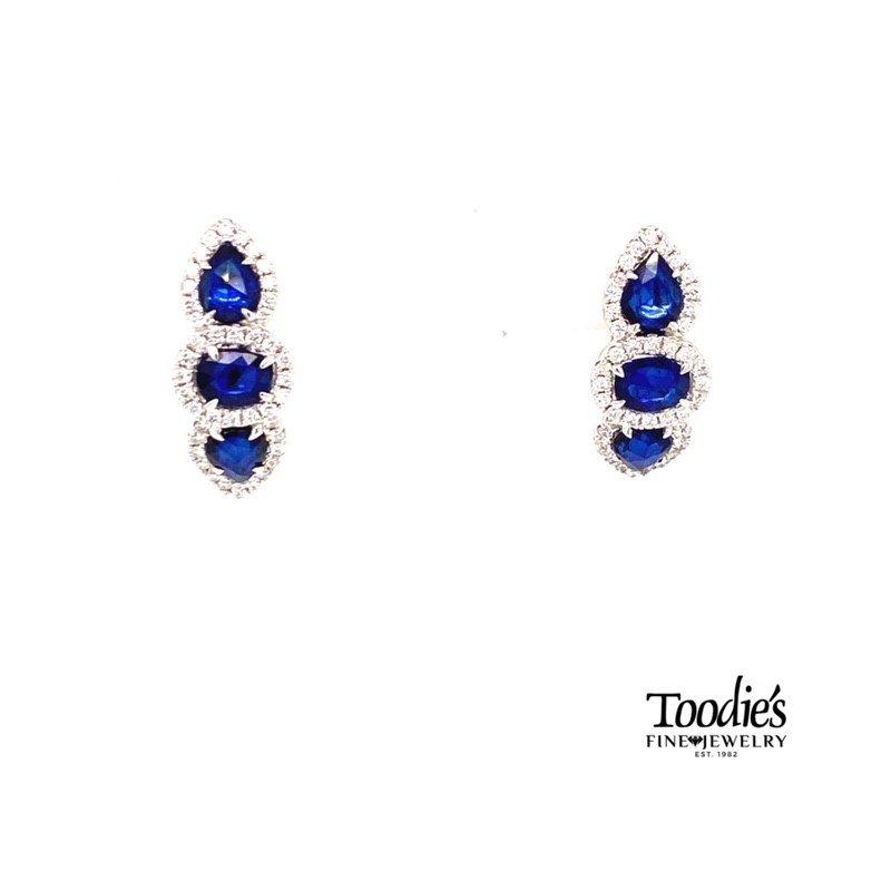 Toodie's Signature Fashion Sapphire And Diamond Drop Earrings