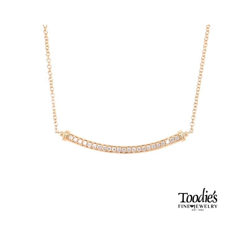 Toodie's Signature Fashion Curved Diamond Bar Necklace