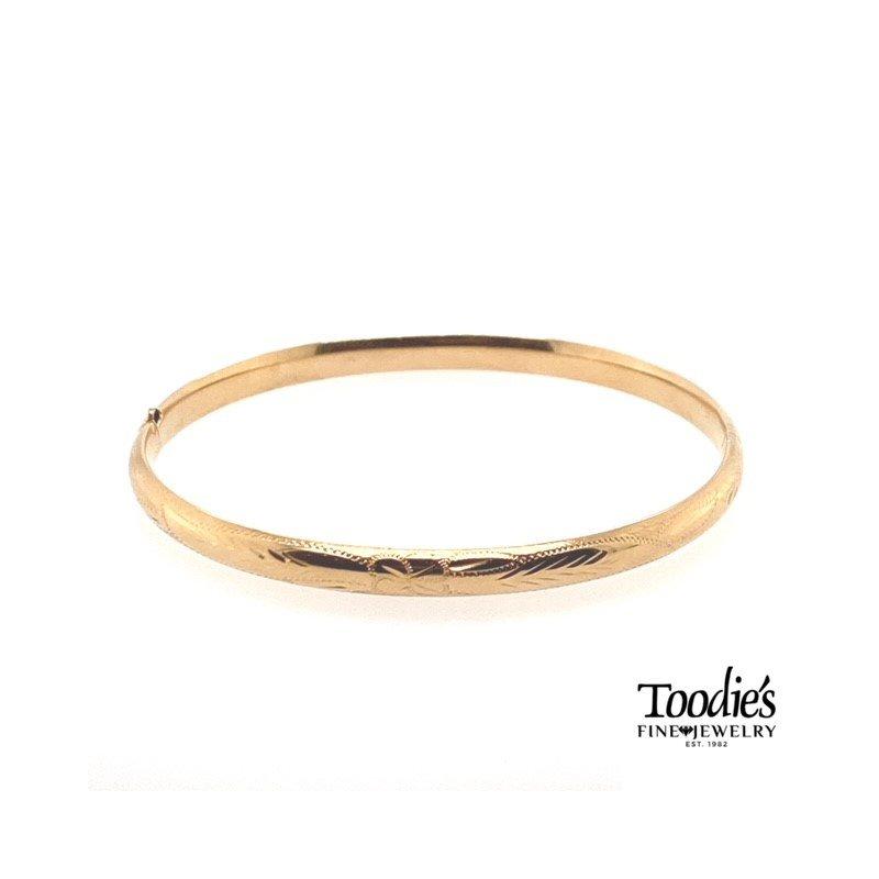 Toodie's Signature Fashion Gold Engraved Bracelet