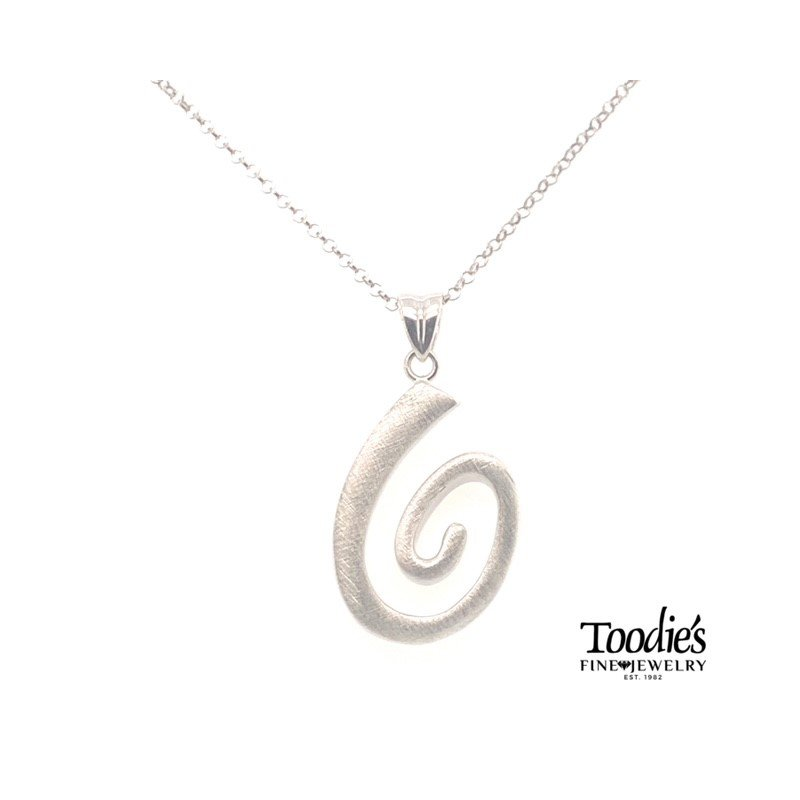 Toodie's Signature Fashion Swirly Polished And Scratched Finish Necklace