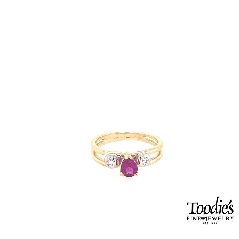 Toodie's Signature Fashion Pink Tourmaline And Diamond Ring
