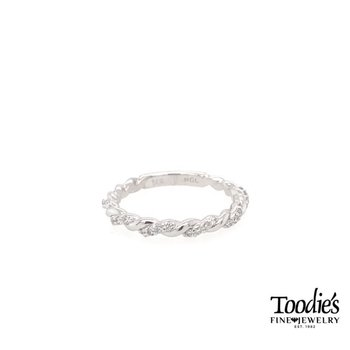 Tight Twisted Diamond Band