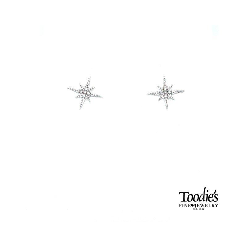 Compass Rose Diamond Studded Earrings