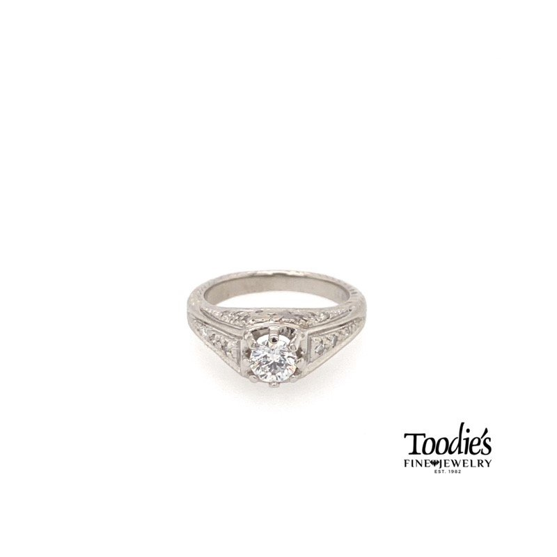 Toodie's Signature Fashion Vintage Diamond Engagement Ring.
