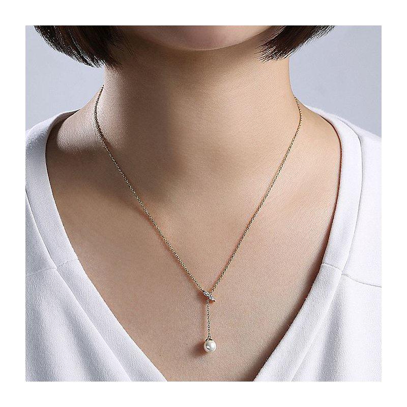 Gabriel Fashion Pearl Drop Necklace