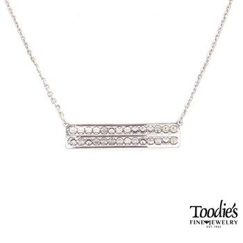 Straight Bar Diamond Cut Beaded Necklace